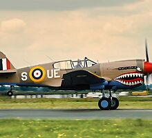"Curtiss P-40E Kittyhawk Ia N94466 AK933/UE-S ""Sneak Attack"" by Colin Smedley"