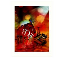 As the Ship Sinks Art Print