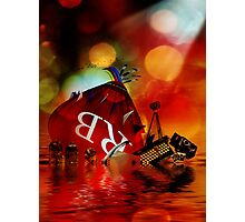 As the Ship Sinks Photographic Print