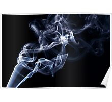 Blue smoke in the air Poster