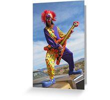 Clown Punk Guitarist Greeting Card