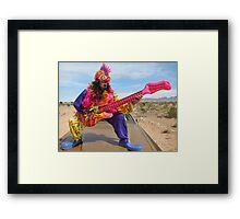 Air Guitar Clown Punk Framed Print