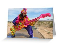 Air Guitar Clown Punk Greeting Card