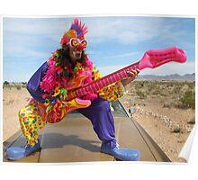 Air Guitar Clown Punk Poster