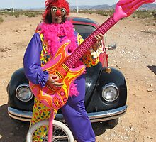 Clown, Unicycle & Guitar by jollykangaroo