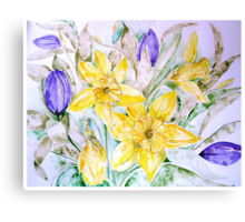 DAFFODILS AND TULIPS 3 45 Canvas Print