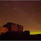 Northern Lights over Duffus Castle by Andrew Watson
