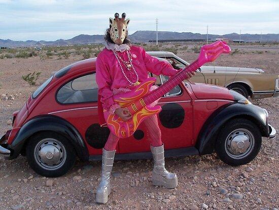 Giraffe man on air guitar by jollykangaroo