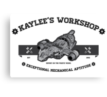 Kaylee's Workshop Canvas Print