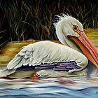 Pelican At East Pearl by Phyllis Beiser