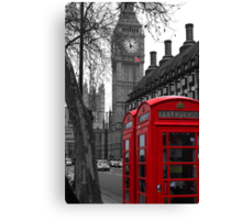 London - Red Canvas Print