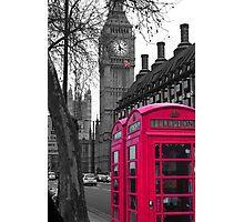 London - Pink Photographic Print