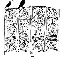 Birds on a screen by Joseph Venning