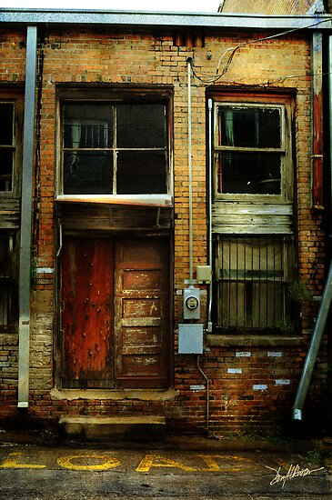 Door in a Minden Alley by Patito49
