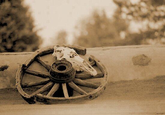 Santa Fe Wagon Wheel by Russell Pedri