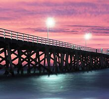 Crimson sunset overlooking Grange Jetty by BBCsImagery