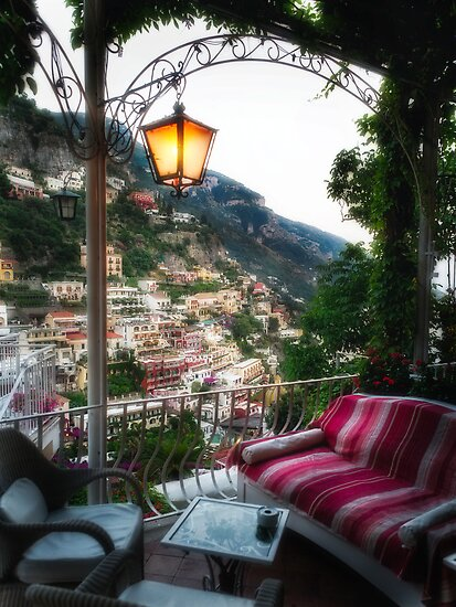 Lounge Chairs on a Terrace by George Oze