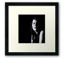 the cold light of truth Framed Print