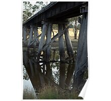 Old Rail Bridge Cavendish Victoria  Poster