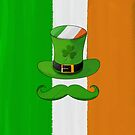 Ireland Flag &amp; Shamrock Leprechaun Hat Mustache by scottorz