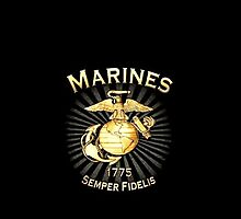 US Marines Insignia Logo iPhone Cover by jlerner