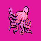 Hot Pink Octopus iPhone by wlartdesigns