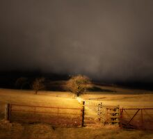 THE STORM COMING OVER THE HILL by leonie7