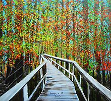 Walkway in the woods  by maggie326