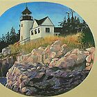 Three Maine Lighthouses by Janet Glatz