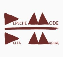 Depeche Mode : Logo Delta Machine 2013 red by Luc Lambert