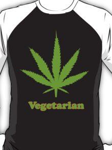 Vegetarian Pot Leaf T-Shirt T-Shirt