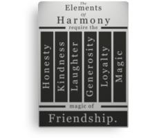 The Elements of Harmony Canvas Print