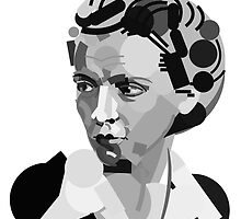 Geometric Portrait of Marie Curie by InTheModernEra