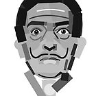 Geometric Portrait of Salvador Dali by InTheModernEra