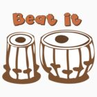 Tabla Drum Beat It T-Shirt by mindofpeace