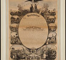 Lipman Emancipation proclamation with narrative pictorial by Adam Asar