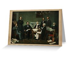Print of Lincoln's cabinet based on Carpenter painting Greeting Card