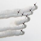 RAF Red Arrows display team by Blitzer