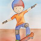 Skateboarding by Kristy Spring-Brown