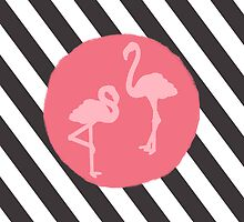 Striped Flamingos by HomelyCreatures