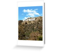 The famous Hollywood sign, Hollywood, Ca. Greeting Card
