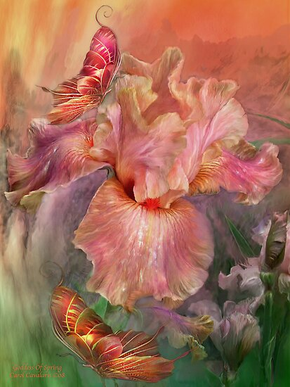 Iris - Goddess Of Spring by Carol  Cavalaris