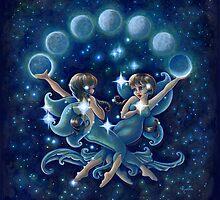 Gemini Moon Faeries by Rocio Mariposa