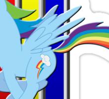 Mustang Rainbow Dash (Logo) Sticker