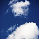 Clouds in the blue sky by asaphus