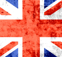 Grunge United Kingdom Flag 2 Sticker
