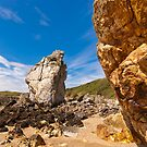 Rock Formations at Cemaes Bay by ajwimages