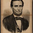 Abraham Lincoln. The martyr President, Assassinated April 14, 1865, Currier & Ives portrait by Adam Asar