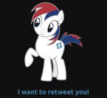 Tweety wants to retweet you! by Mezgrman