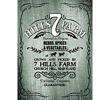 7 HILLS FARM Photographic Print